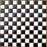 昔からのタイル 25mm角 白×黒色 市松貼り【アウトレットタイル】