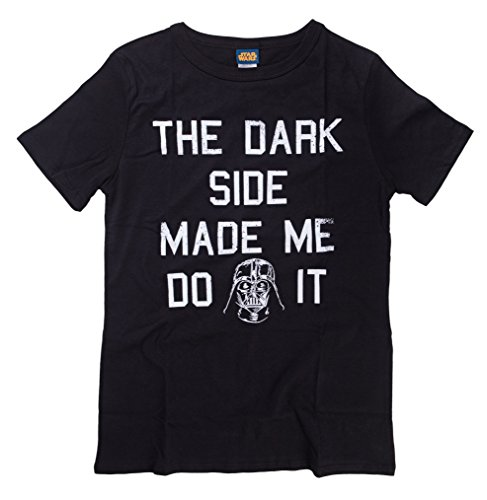 The Dark Side Made Me Darth Vader Womens T-shirt