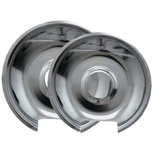 Range Kleen 10342X Style E Chrome Drip Pans, 2-Pack front-12814