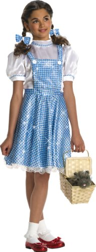 Wizard Of Oz Child'S Deluxe Sequin Dorothy Costume, Medium front-495617