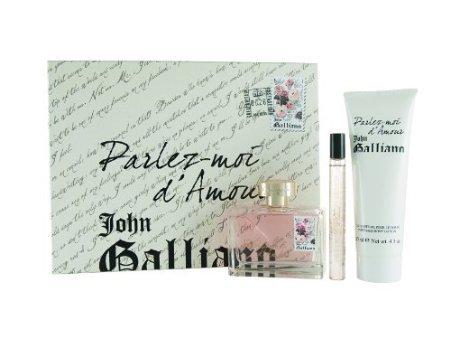 John Galliano Parlez-Moi D Amour Coffret: Eau De Toilette Spray 80ml/2.6oz + Body Lotion 125ml/4.2oz + Eau De...