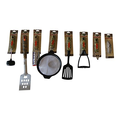 Mossy Oak 8 Piece Camouflage Utensil Set For Kitchen Cabin House BBQ Camper Shop