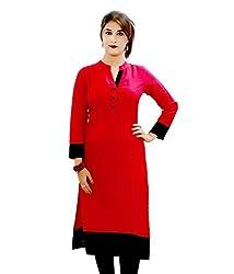 BT Creation red cotton new designer Kurtas & Kurtis