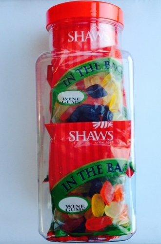 WJ Shaws Wine Gums, 6 confezioni Vaso in ogni sacco è 170 g