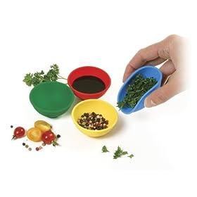Norpro Silicone Mini Pinch Bowls, 4 Piece Set