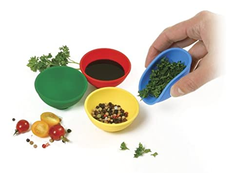 Norpro Silicone Mini Pinch Bowls, 4 Piece Set
