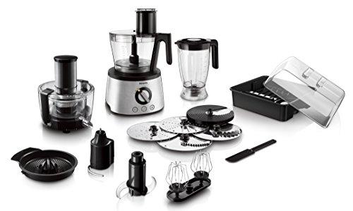 Philips HR7778/00 Robot da cucina 5 in 1, Multifunzione con Centrifuga + Frullatore + Spremiagrumi + Impastatore  , 1300W - Avance Collection -