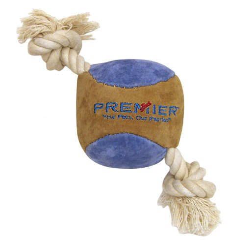 Premier Pet SofToss Ball with Rope Dog Toy, Small