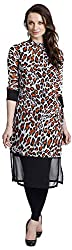 Chandigarh Fashion Mall Women's Georgette Regular Fit Kurta (Cfm.1049_XXL, Multicolor, XXL)
