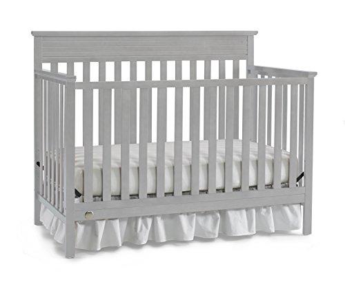 Fisher-Price Newbury 4-in-1 Convertible Crib, Misty Grey - 1