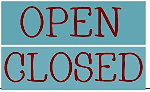 OPEN / CLOSED WOOD SIGN