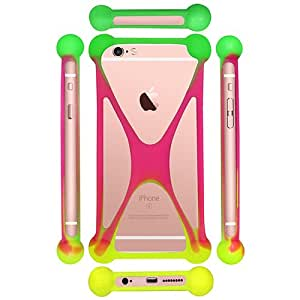 Casotec Universal Silicone Bumper Frame Soft Gel Phone Case Cover for Sony Xperia Z3 Compact - Multicolor