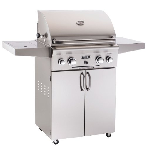 American Outdoor Grill Portable Series 24NC, Size: 24″ [$1,810], Fuel: Natural Gas [$90], Rotisserie Kit & Side Burner: Yes [$267], Cover: None