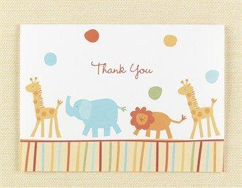 Hortense B. Hewitt Jungle Animals Thank You Cards