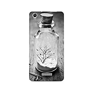 Mobicture Glass Bottle Premium Printed Case For Lava Pixel V1