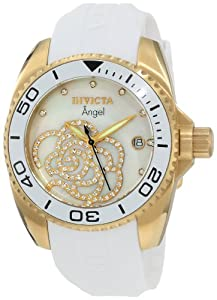 Invicta Women's 0488 Angel Collection Cubic Zirconia Accented Polyurethane Watch from Invicta