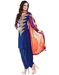 Sanjana Design Women's Georgette Dress Material ( KS6316_Free Size_Blue)