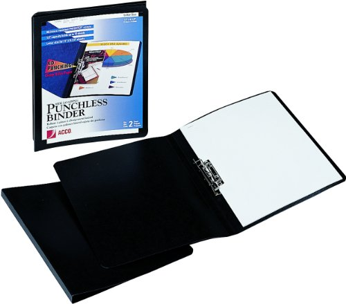 Acco Brands Presstex Grip Punchless Binder with Spring ...