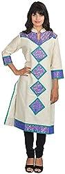 Goodyygoods Women's Cotton Regular Fit Kurti (GG 14, Multi, Large)