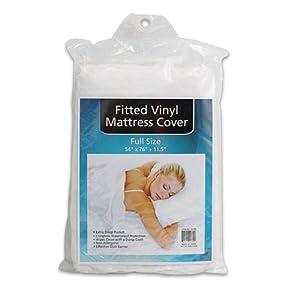 Plastic White Full Size Mattress Cover Protector Vinyl Sheet Waterproof