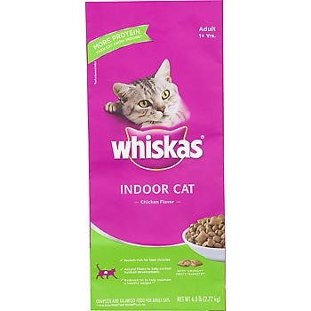 See Whiskas Indoor Dry Cat Food, 6-Pound