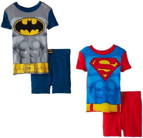 Komar Kids Little Boys' Superman And Batman Heroes, Multi, 3T