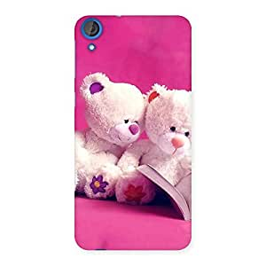 Enticing Twin Teddy Multicolor Back Case Cover for HTC Desire 820s