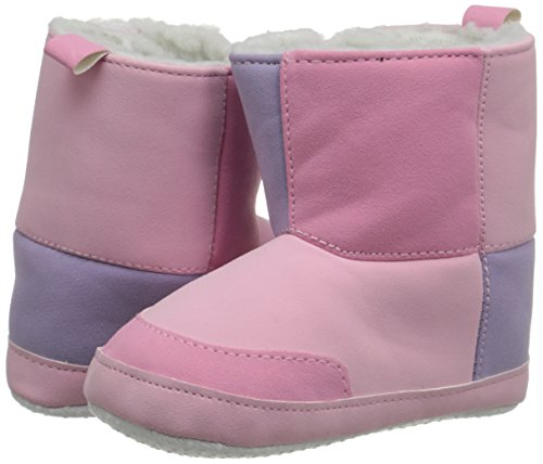 Luvable Friends Baby Girl's Winter Boots (Infant), Pink, 12-18 Months M US Infant