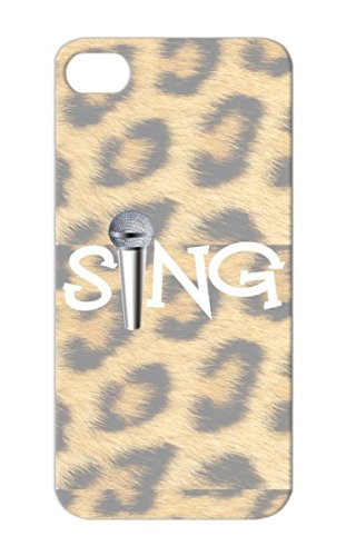 White Sing With Microphone For Iphone 5S Dustproof Sing Singer Rock Metal Music Musician Musical Band Singing Chorus Music Vocalist Choir Tpu Cover Case