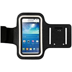 MOBILEEXTRALTD® Samsung Galaxy S4 i9500 Shocksock Reflective Strong Mesh Black ArmBand Strap Adjustable Case Cover For Sports, Gym, Bike Riding, Cycle & Jogging , Running - Tie Phone with Your Arm - Slim Fit