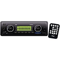 PYLE PLMR86B Marine Single-DIN Mechless Receiver (Black)
