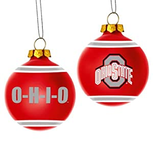 Amazon.com : Ohio State Buckeyes Official NCAA 3' Glass ...