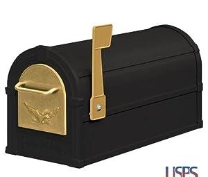 Eagle Rural Mailbox Color: Black / Gold