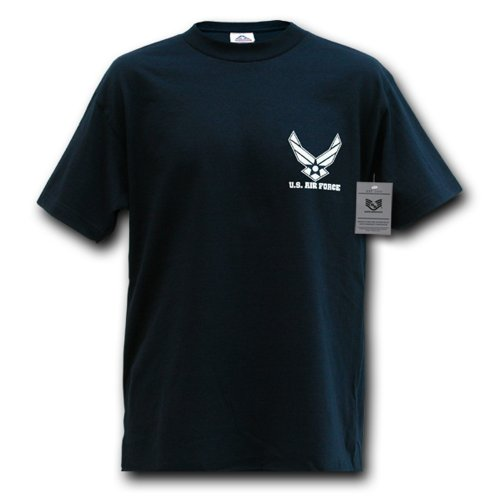 Rapiddominance Air Force Wing Classic Military T-Shirt, Navy, Small