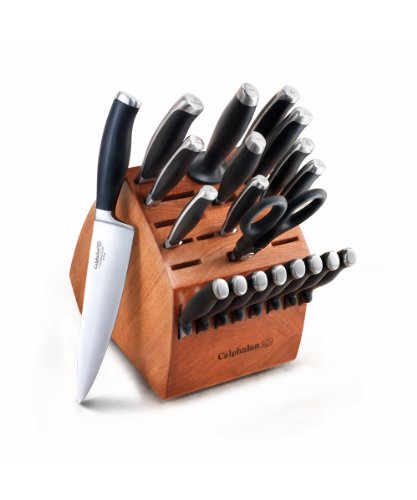 Calphalon Contemporary Cutlery 21-Piece German Steel Cutlery Set With Knife Block