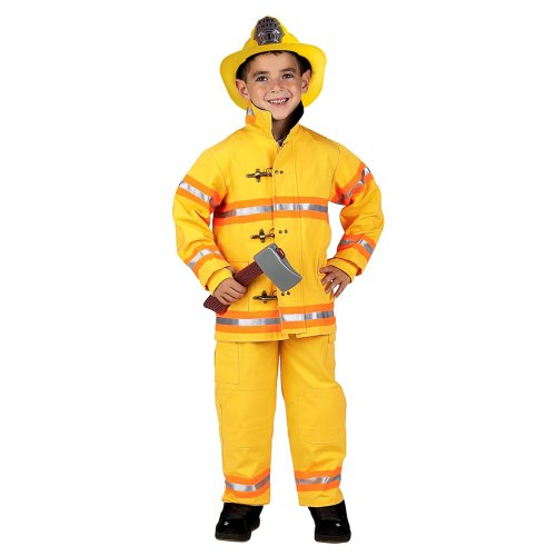Jr. Firefighter Suit  Helmet Kids' Costume (Boy's