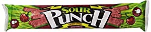Sour Punch Straws Chargin' Cherry Flavor - 24/2 oz.