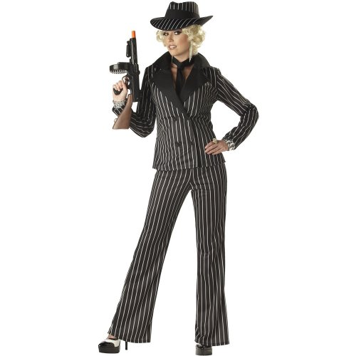 California Costumes Women's Gangster Lady Adult Costume