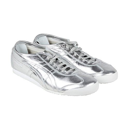 Onitsuka Tiger Mexico 66 Fashion Sneaker, Silver/Silver, 7.5 M Men's US/9 Women's M US