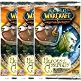 World of Warcraft TCG WoW Trading Card Game Heroes of Azeroth Booster Pack Lot of 3 Packs
