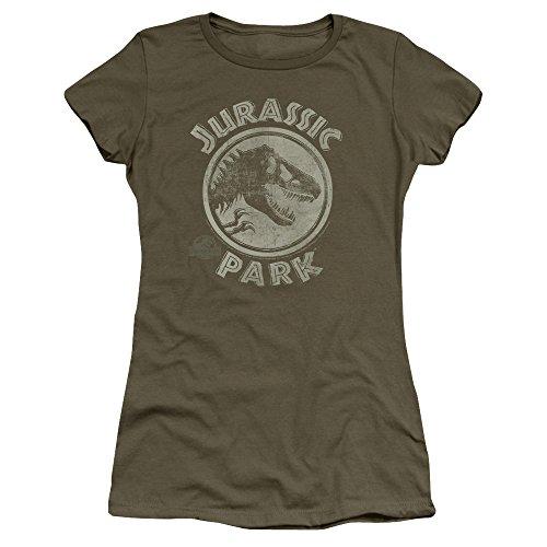 Jurassic Park - Top - T-shirt con stampe - Maniche corte  - puro - Donna Verde militare Small