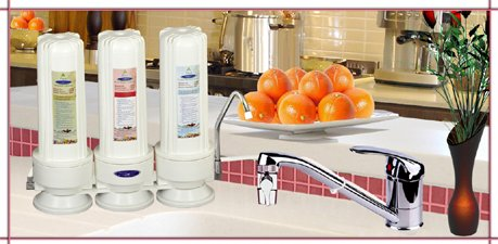 Crystal Quest Triple 8 Stage Countertop Fluoride Water Filter