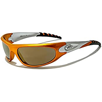 X-Loop Lunettes de Soleil - Sport - Cyclisme - Ski - Conduite - Moto - Plage / Mod. 2610 Orange Gris Fumés / Taille Unique Adulte / Protection 100% UV400