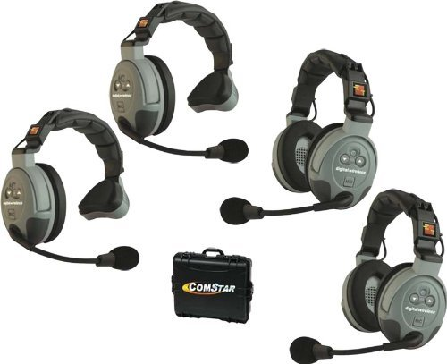 Eartec Comstar Xt-4 - All-In-One Headset System For 4 Persons - 2 Single Ear, 2 Dual Ear Headsets