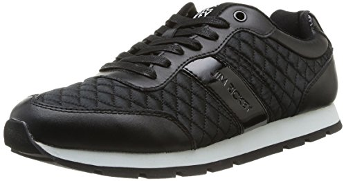 Jim Rickey  Ballistic Nylon Leather,  Sneaker uomo Nero Noir (Black Quilted) 43