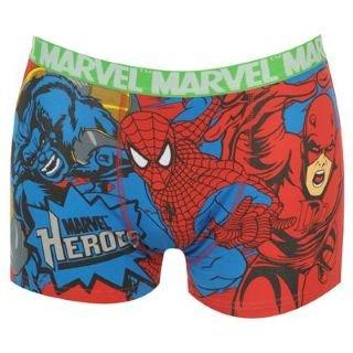 Marvel Single Boxer Shorts Mens Red Medium