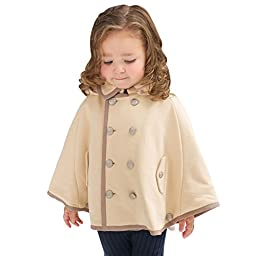 Little Youngster Baby-Girls Long Sleeve Poncho Coat with Hoodie (2-4T, Camel)
