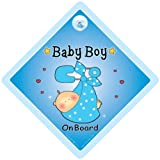 Baby on Board Car Sign Grandchild on Board baby Car Sign Baby Boy On Board Sign Blue Sling Baby on Board Car Safety Sign Baby On Board Decal Bumper Sticker Baby Sign Baby Car Sign Maternity Baby Shower Pregnancy Car Sign