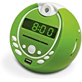 Metronic Gulli Radio réveil mp3 USB Projection 180° Vert