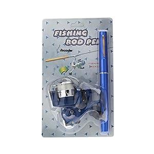 E-most Mini Aluminum Saltwater Fishing Tackle Pocket Pen Fishing Rod Pole + Reel